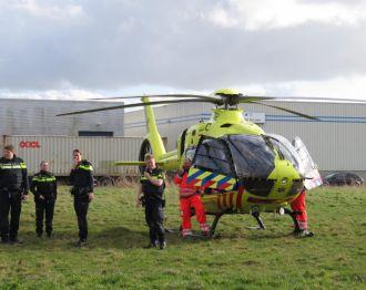Traumahelikopter voor onwel geworden vrouw in Provinciepassage