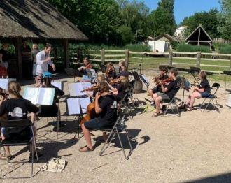 Juniorensymfonieorkesten veroverde zondag Museumpark Archeon